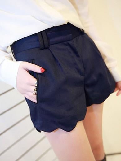 2012春季新款 潮流欧美风 腰部撞色英伦短裤 女 Y031593